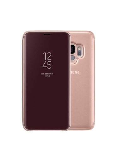 Samsung S9 Clear View Standing Kılıf Altın Efzg960Cbegww Renkli